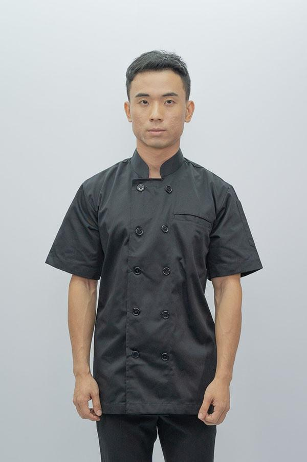Chef Coat Classic Short Sleeve - Black
