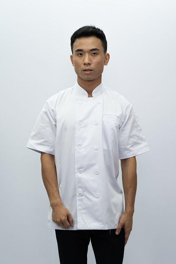 Chef Coat Classic Short  Sleeve - White