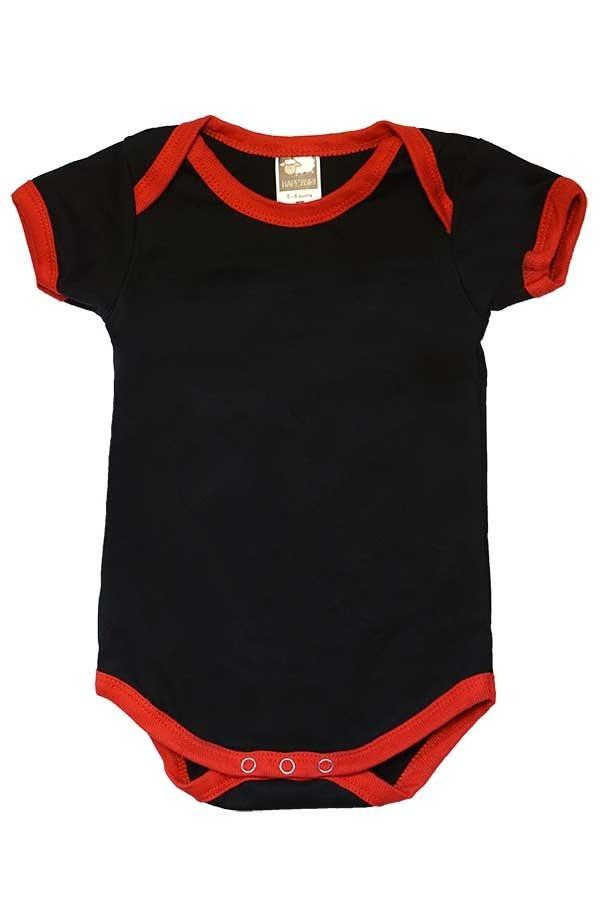 Value Romper - Black/Red