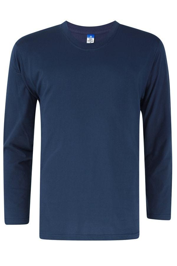 Vivid Supercool Microfiber long sleeve t-shirt navy blue