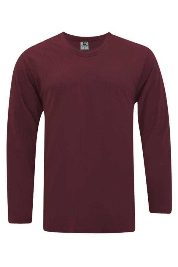 Vivid Supercool Microfiber long sleeve t-shirt burgundy