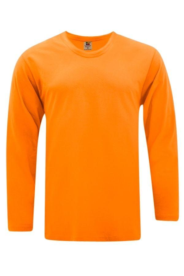 Vivid Supercool Microfiber long sleeve t-shirt orange