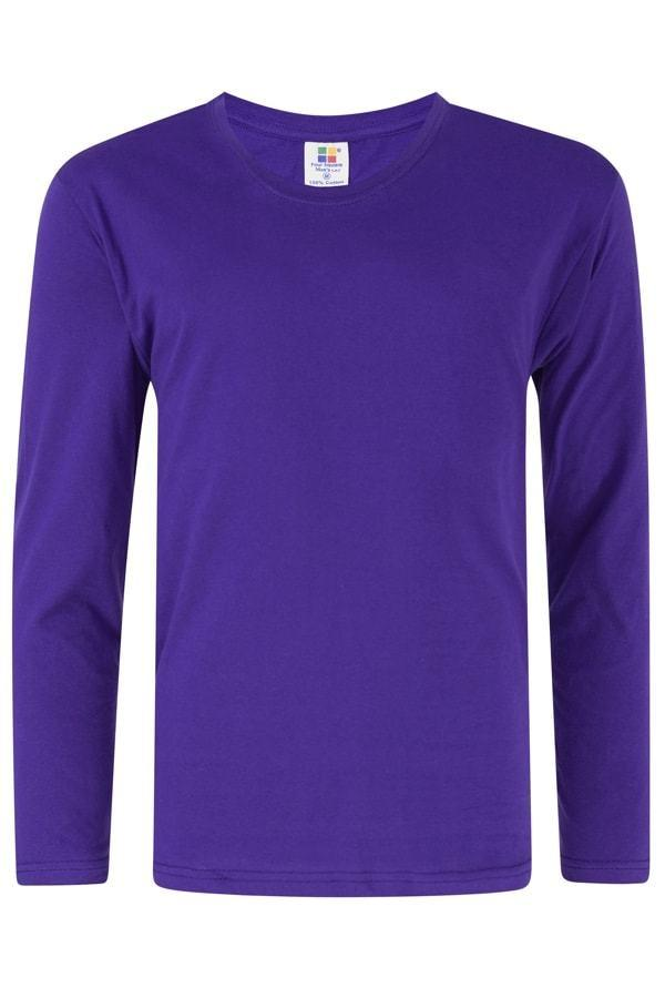 Vivid Supercool Microfiber long sleeve t-shirt purple