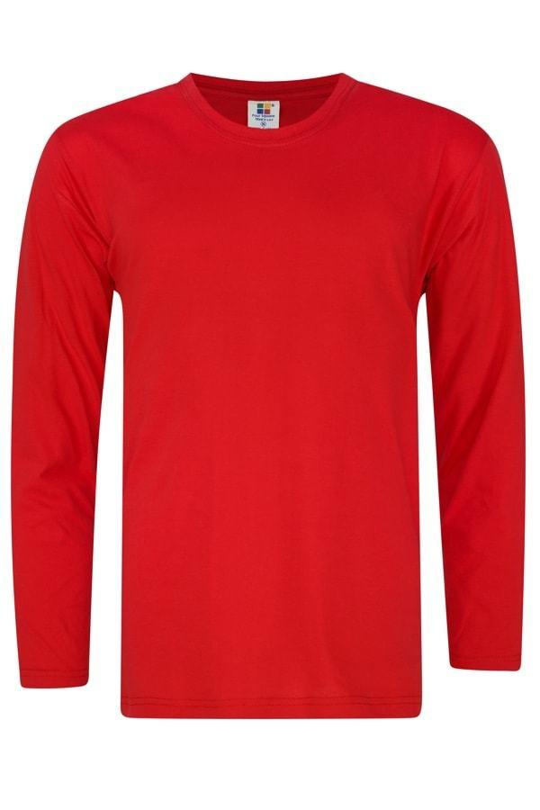 Vivid Supercool Microfiber long sleeve t-shirt red