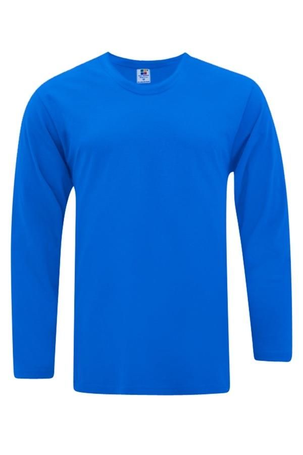Vivid Supercool Microfiber long sleeve t-shirt royal blue