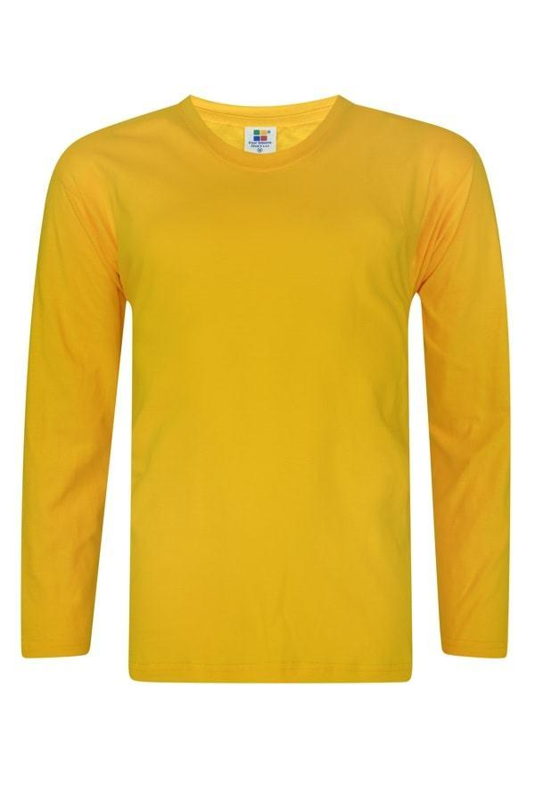 Vivid Supercool Microfiber long sleeve t-shirt yellow