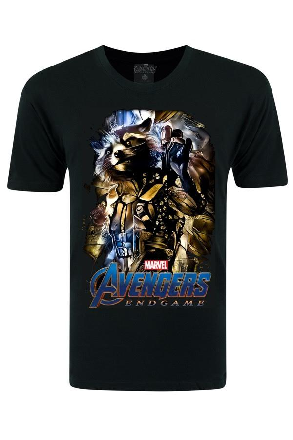 Avengers Rocket Raccoon - Black T-shirt