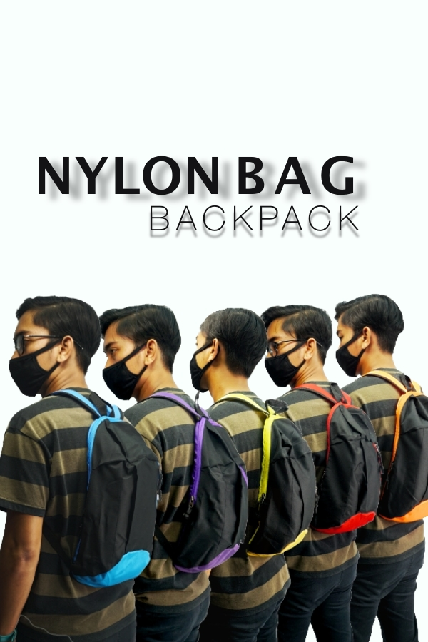 Nylon Bag BackPack - Purple
