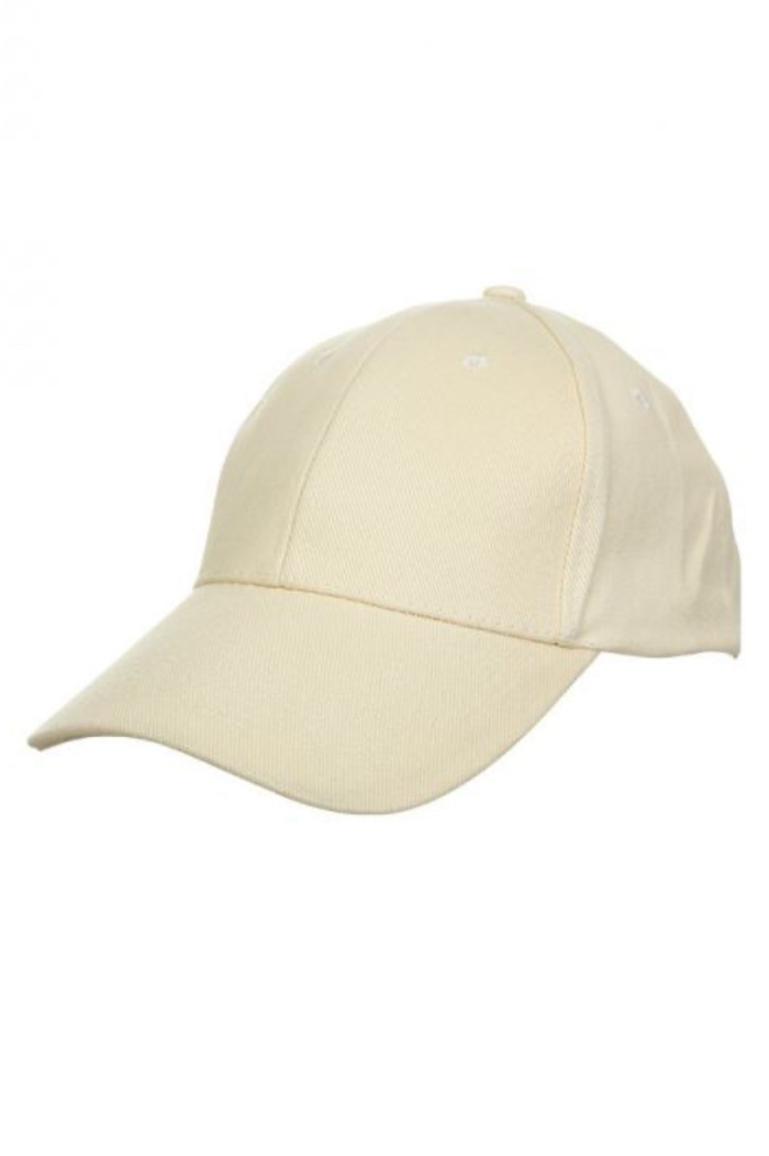 Basic Cotton Brush Cap Beige
