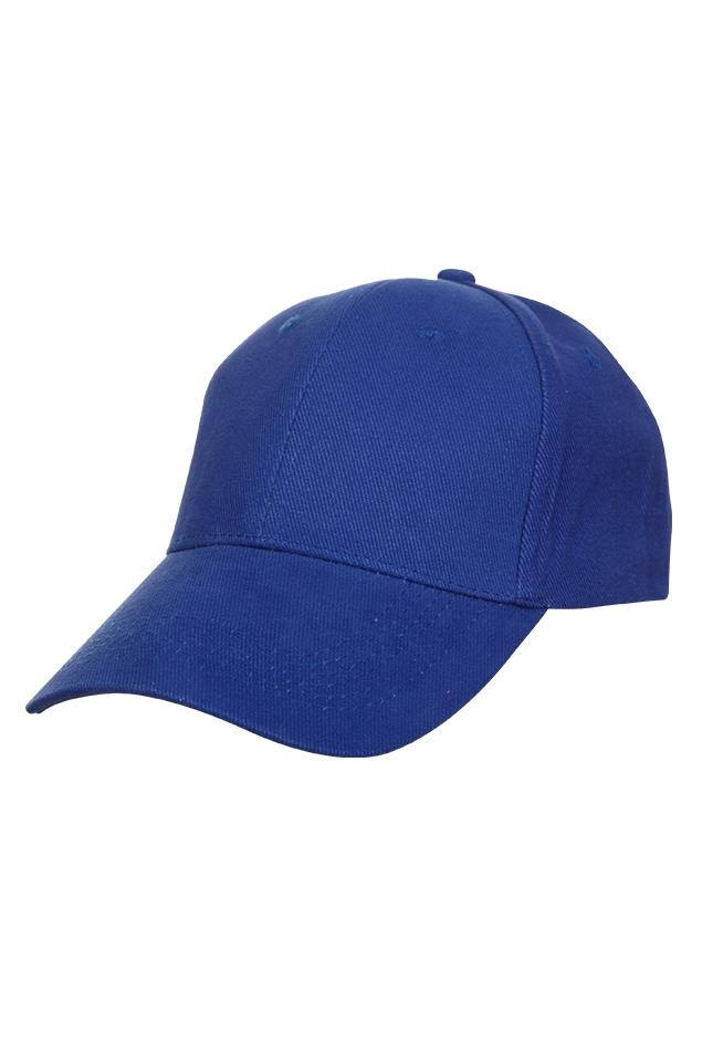 Basic Cotton Brush Cap - Royal Blue