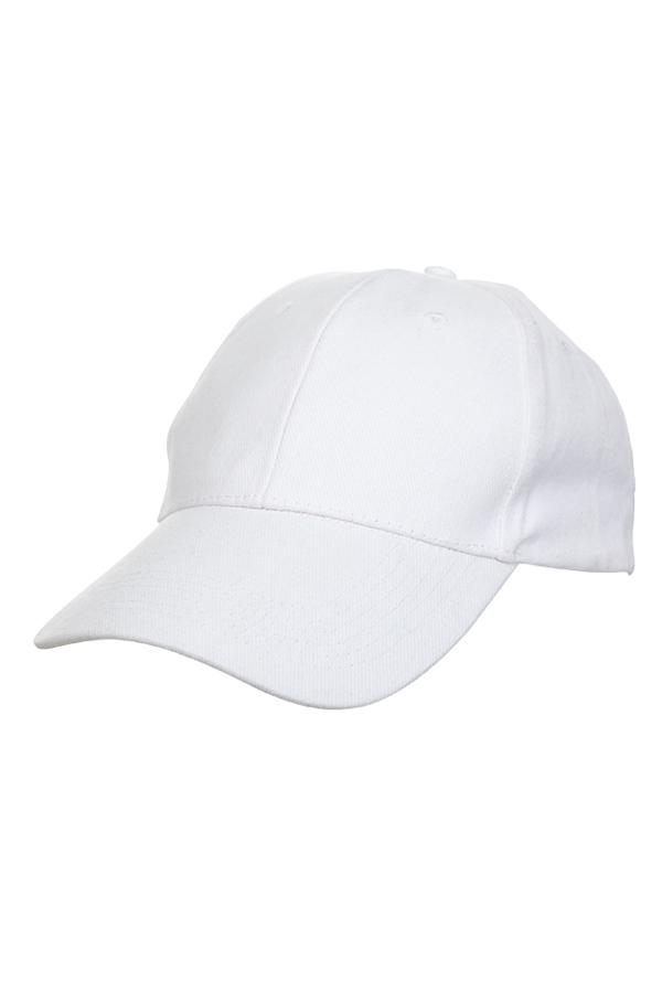 Basic Cotton Brush Cap - White