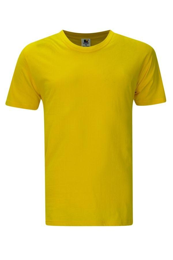 Enzyme Washed RoundNeckvYellow T-Shirt