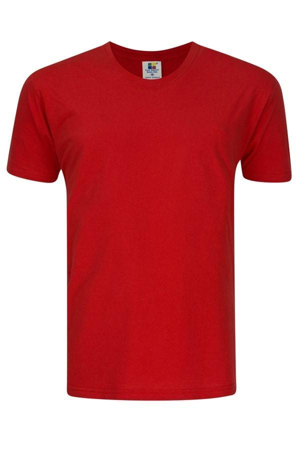 Enzyme Washed RoundNeck Tee  Red T-Shirt