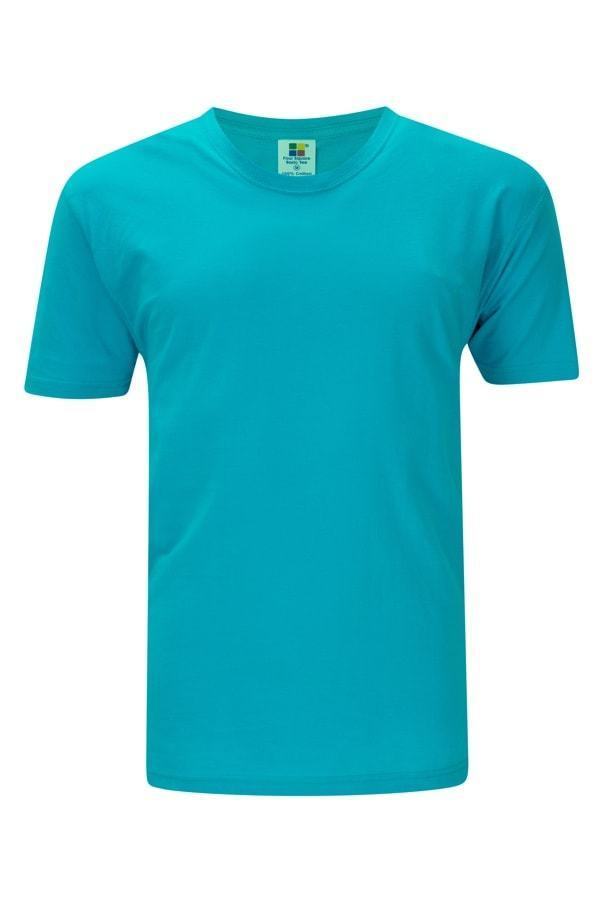 Enzyme Washed RoundNeck Turquoise  T-Shirt