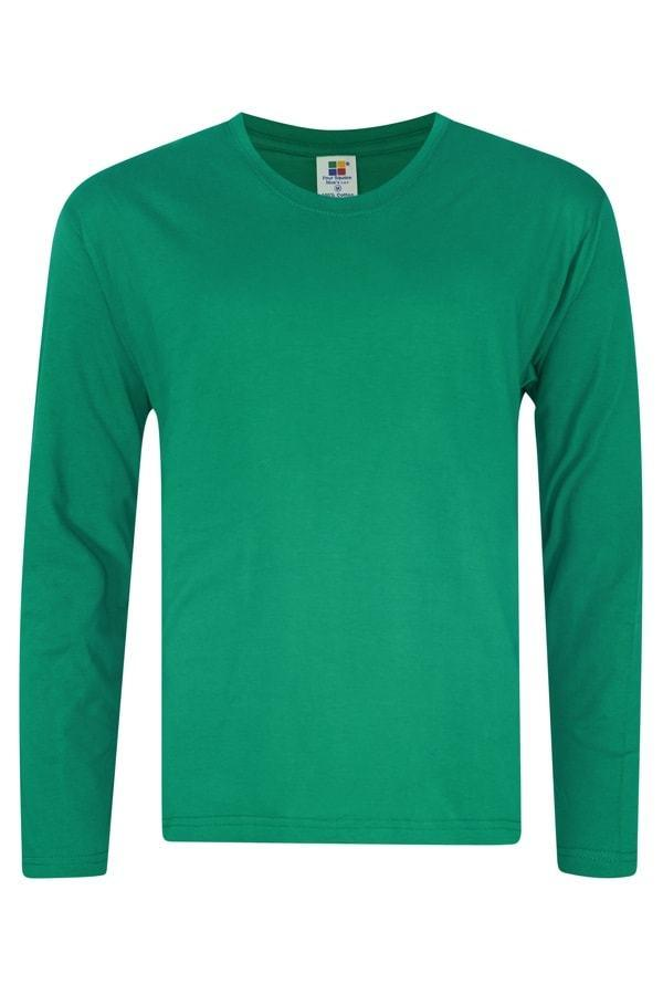foursquare-longsleeve-cotton-t-shirt-kelly Green