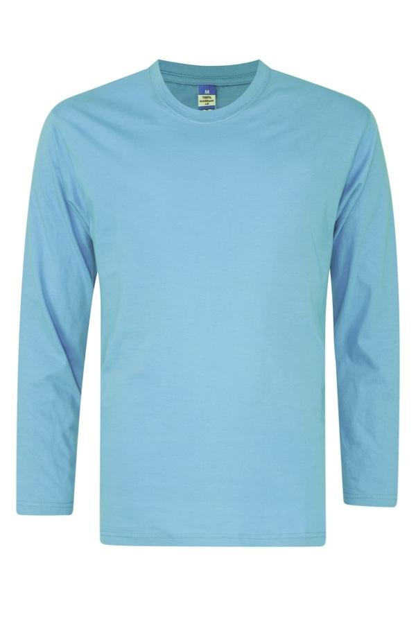 foursquare-longsleeve-cotton-t-shirt-sky Blue