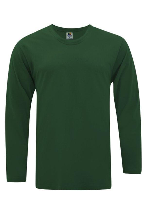 foursquare-longsleeve-cotton-t-shirt-bottle Green