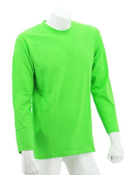 foursquare-longsleeve-cotton-t-shirt-apple Green