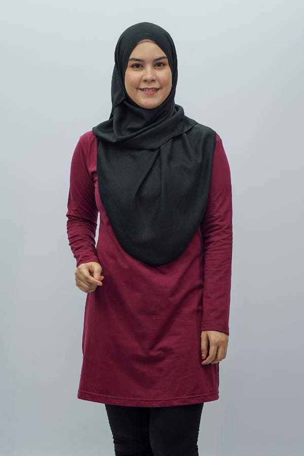 Fullycombed Muslimah Burgundy T-shirt