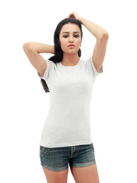 MAXIMUS Ladies Round Neck Ash Grey T-Shirt
