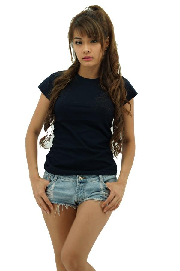 MAXIMUS Ladies Round Neck Navy Blue T-Shirt
