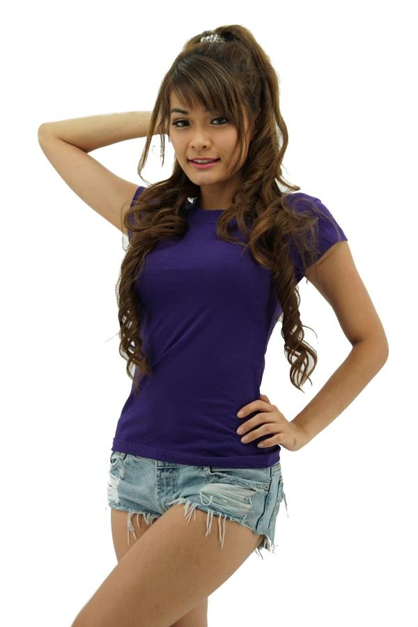 MAXIMUS Ladies Round Neck Purple T-Shirt