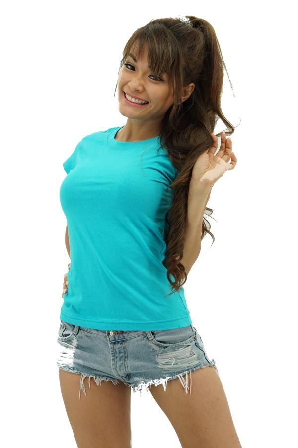 MAXIMUS Ladies Round Neck Turquoise T-Shirt