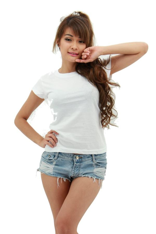MAXIMUS Ladies Round Neck White T-Shirt