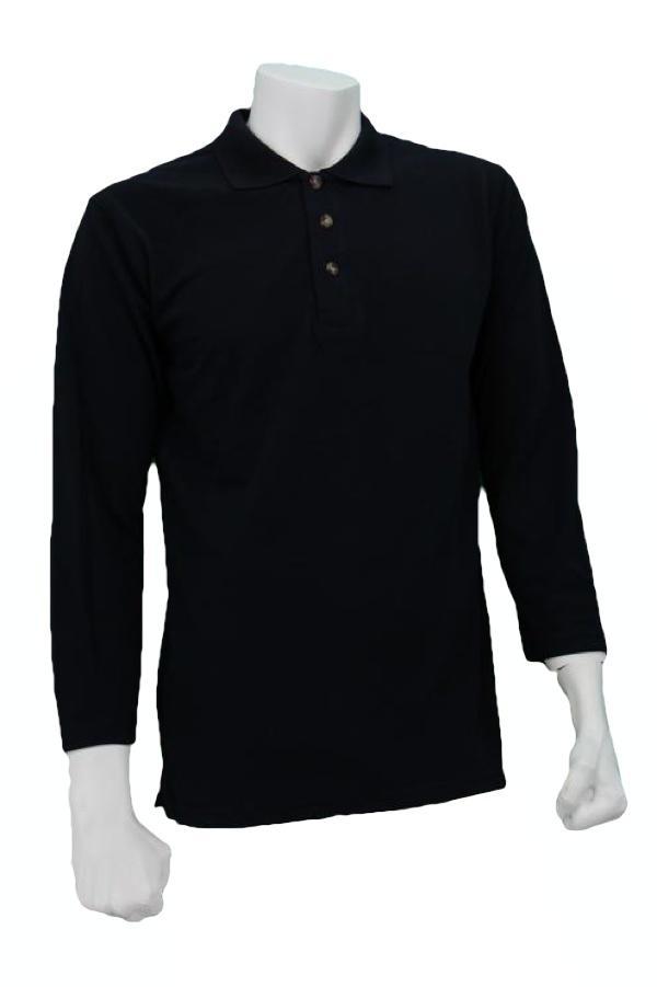 Oren Sport Polo Long Sleeve T Shirt Navy Blue Oren Sport