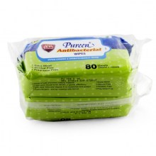 Pureen Antibacterial Wipes 2 x 80s'