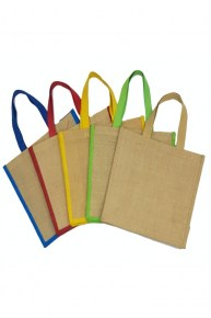 Jute Bag (D) - Apple Green