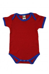 Value Romper - Red/ Royal Blue
