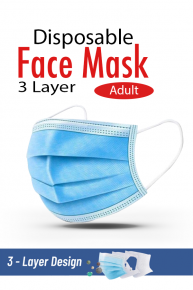 Face Mask 3ply Earloop