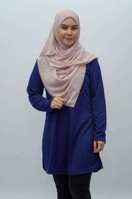 Feathersoft  Muslimah T-shirt - Navy Blue