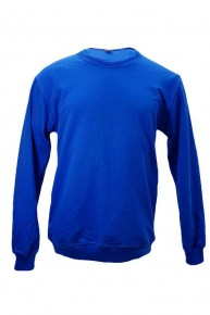 sweater baby terry - royal blue
