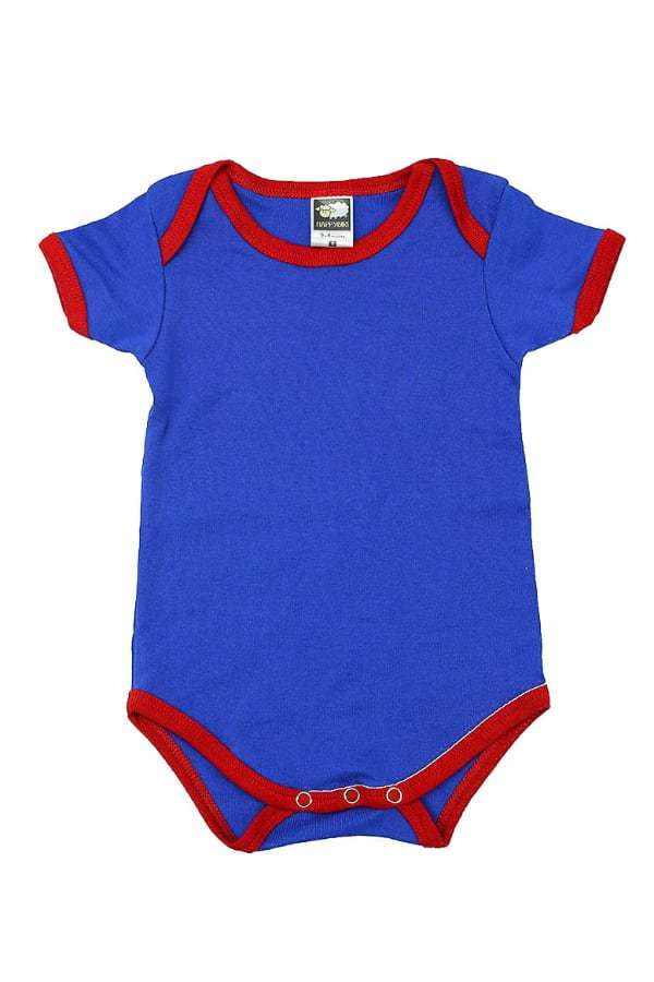 Value Romper - Royal Blue / Red