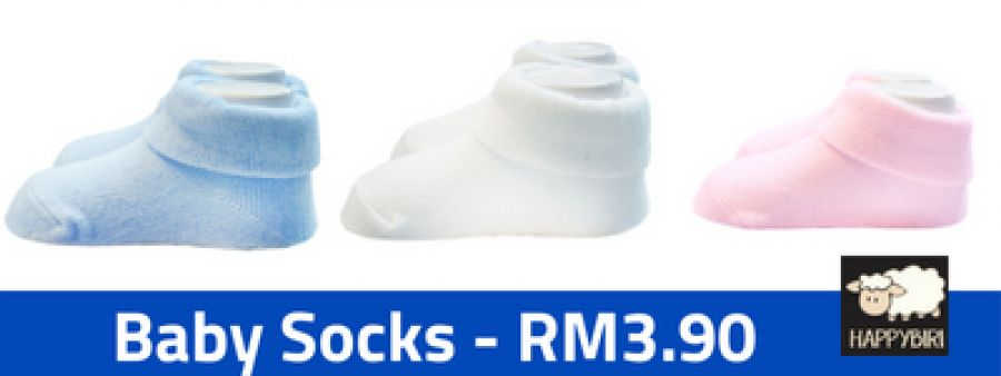 Baby Socks now, available at RM3.90 !!!