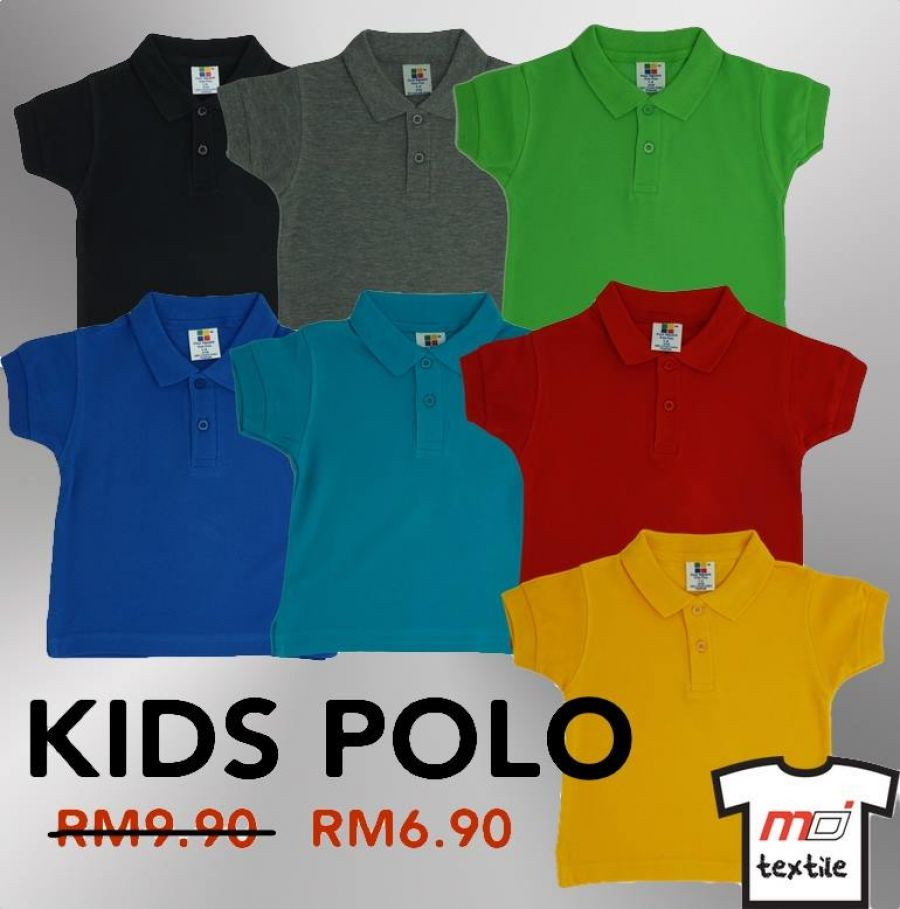 100% Cotton Honeycomb KIDS Polo for just RM6.90