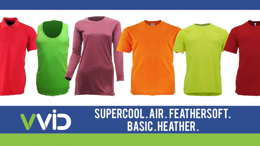 VVID Brand Microfiber Performance T-Shirts Collection: Features