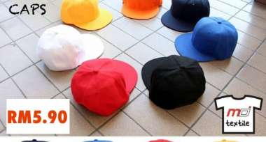 Hip Hop Caps aka Rapper Cap aka Flat Beak Cap is now fully stocked!