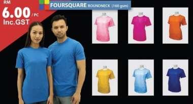 160gsm RoundNeck T-Shirt - RM6.00