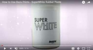 Super White Rubber Paste for Screen Print !