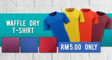 Waffle Dry Raglans! Now on promotional price of just RM5.00 Per Pieces !!!