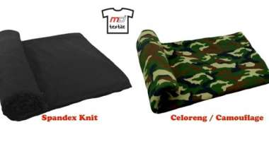 Vivid Cool Stretch Spandex and Celoreng / Camouflage Single Knit Fabric