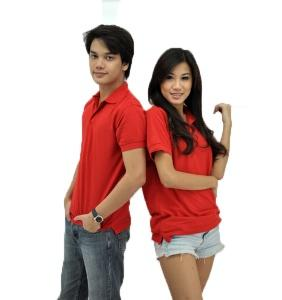 Basic Cotton Honeycomb Polo - Red