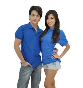 Basic Cotton Honeycomb Polo - Royal Blue
