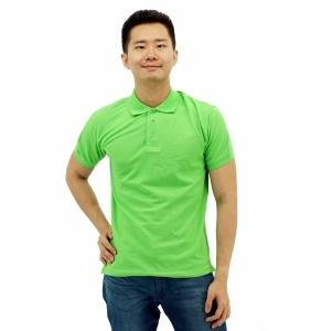 Basic Cotton Honeycomb Polo- Apple Green