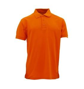 Basic Cotton Honeycomb Polo - Orange