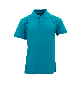 Basic Cotton Honeycomb Polo - Turquoise