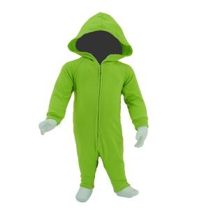 Baby Jumpsuit with Hoodies Apple Green